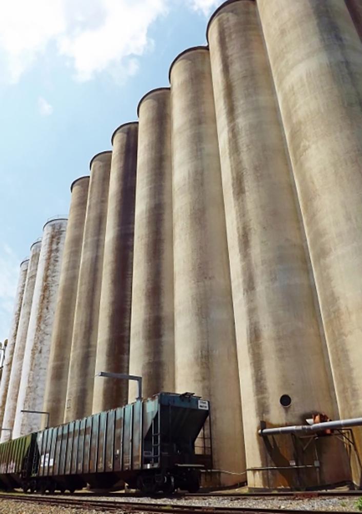 Grain silos, Newton, NC