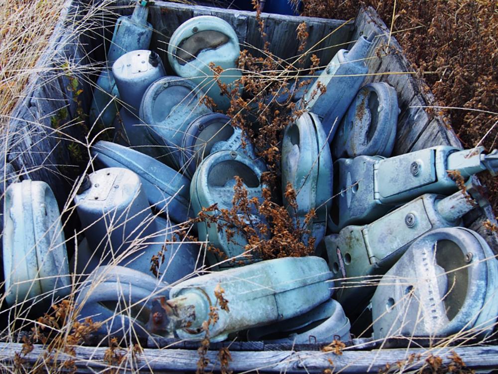 Basket of parking meters