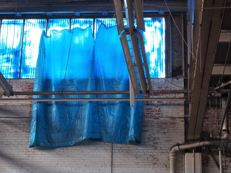 Blue tarp, old Ford  plant